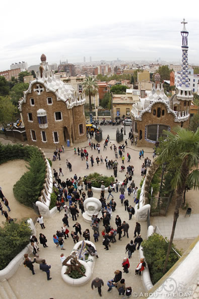 Park Güell overlook in Barcelona Spain