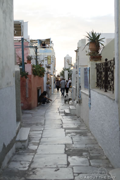 Main Street in Santorini