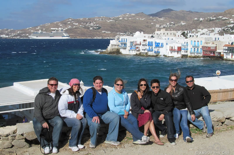 Our new friends in Mykonos, Greece