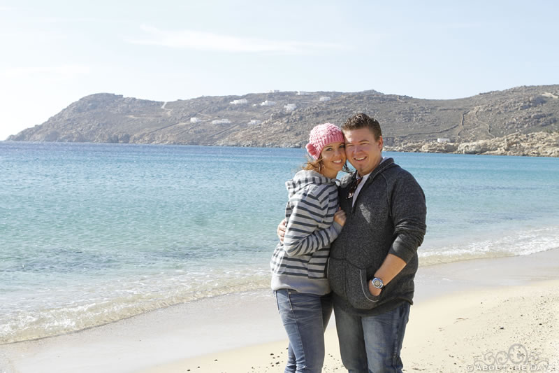 Stephen & Sonia in Mykonos, Greece