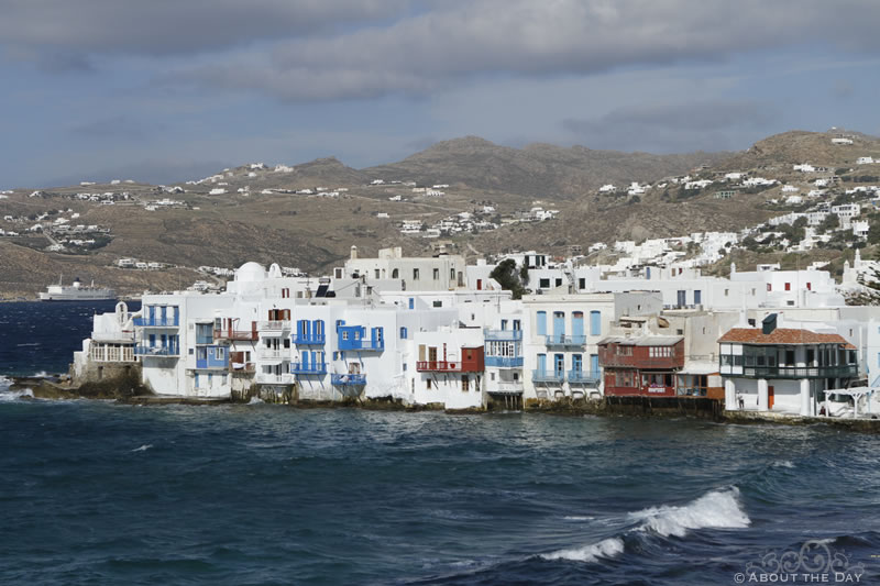 The city of Mykonos, Greece