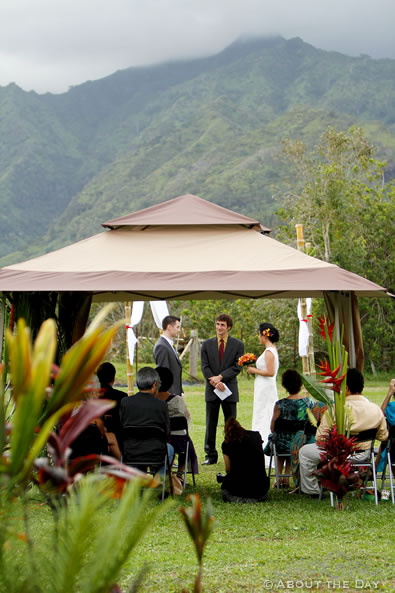 Wedding in Princeville, Hawaii