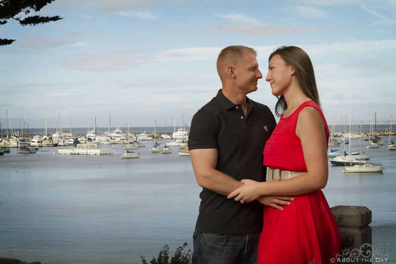 Engagement session in Monterey, California
