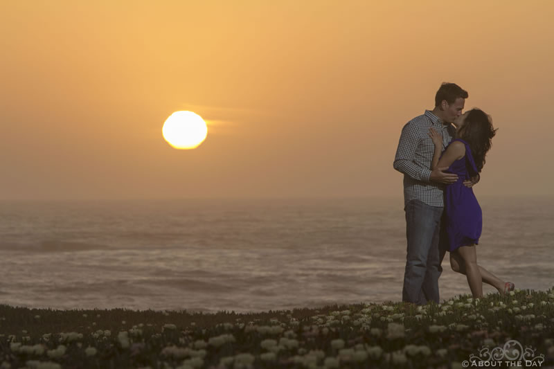 Engagement session in Pescadero, California