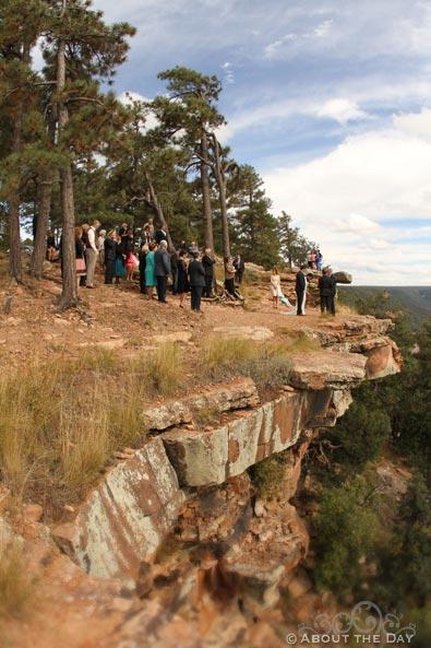 Wedding at the Mogollon Rim, Arizona
