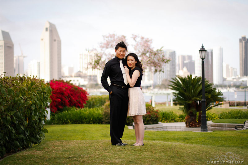 Engagement photos on Coronado Island
