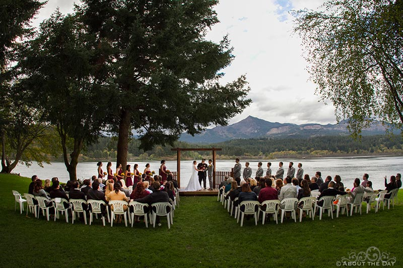 Wedding ceremony at Sternwheeler Columbia Gorge & Marine Park