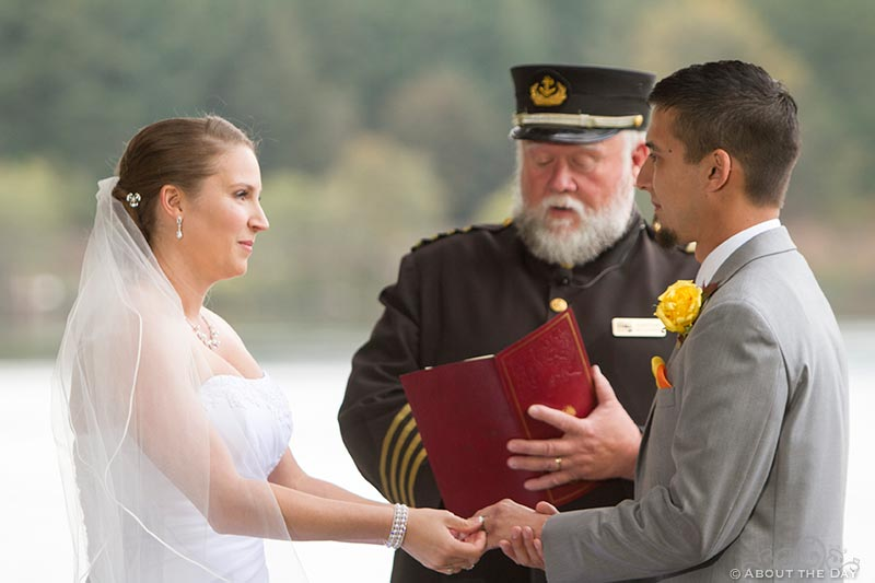 Captin performs ceremony at Sternwheeler Columbia Gorge & Marine Park