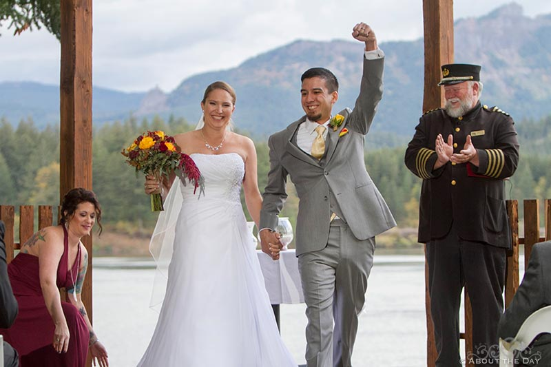 Powerful ceremony exit at Sternwheeler Columbia Gorge & Marine Park
