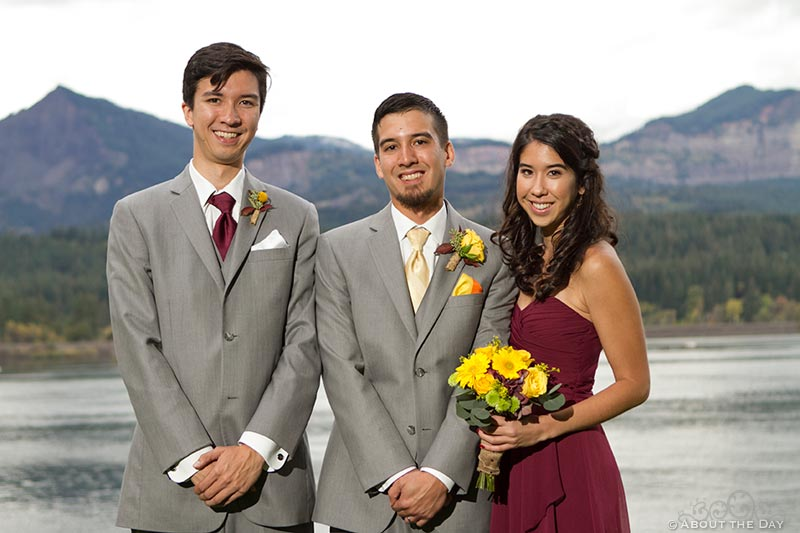 Groom and his sibilings at Sternwheeler Columbia Gorge & Marine Park