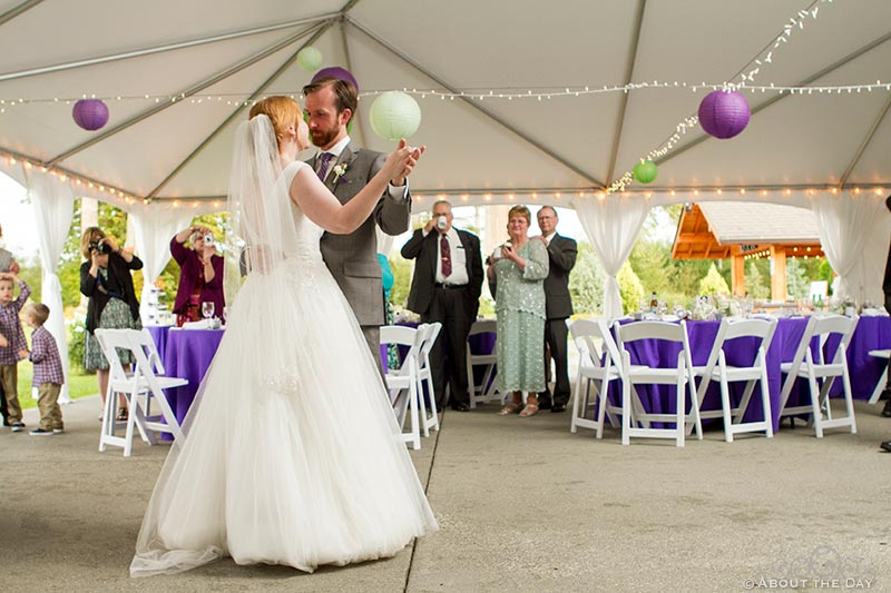First dance at Natures Connection in Arlington, Washington
