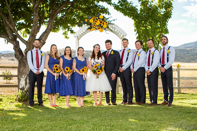 The full wedding party photo