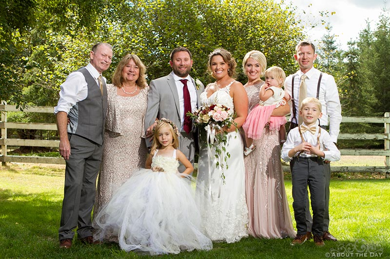 Bride and Groom with his family