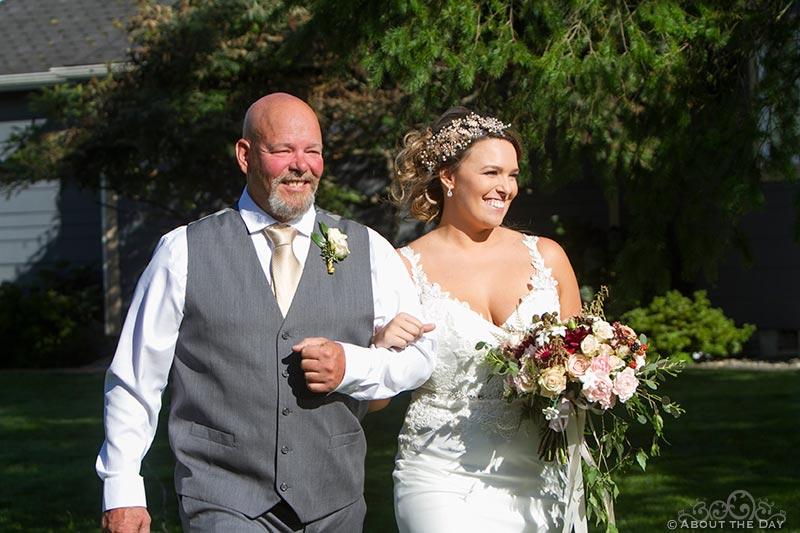 Father walks Bride down the isle