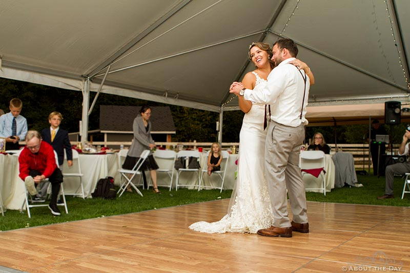 Bride and Groom take their first dance
