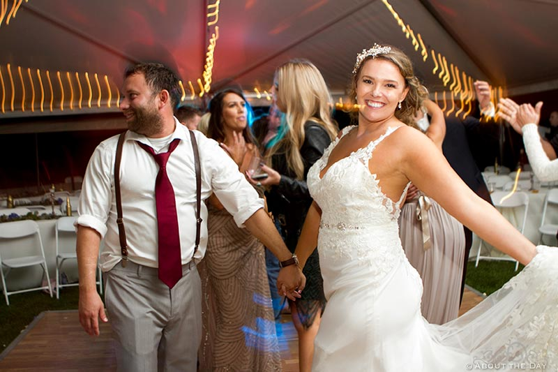 Bride and Groom show their moves while dancing