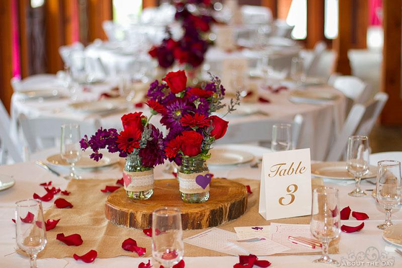 Wedding decorations at Trinity Tree Farm in Issaquah, Washington
