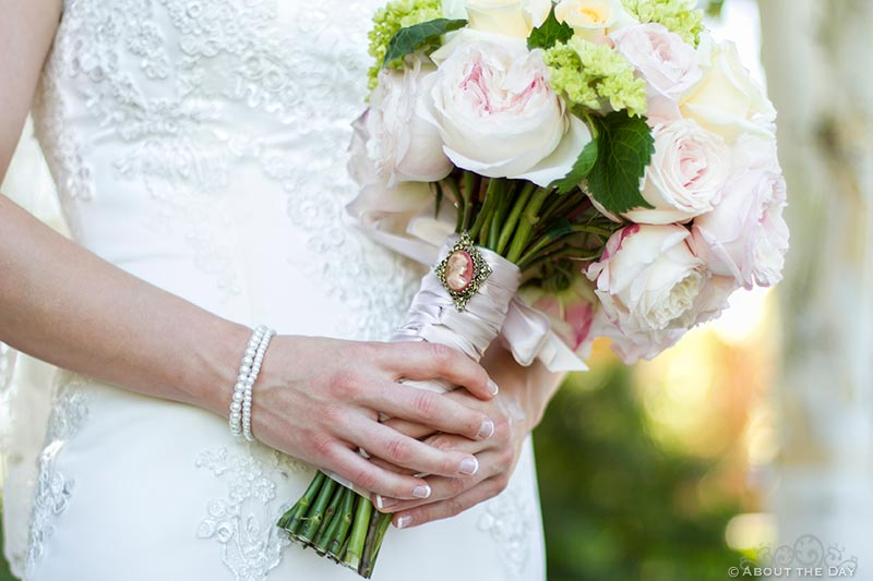 Bridal Boquet and arms