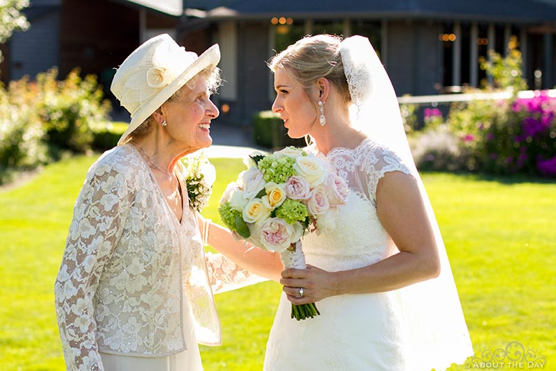 Bride talks with her grandmother at Hidden Meadows