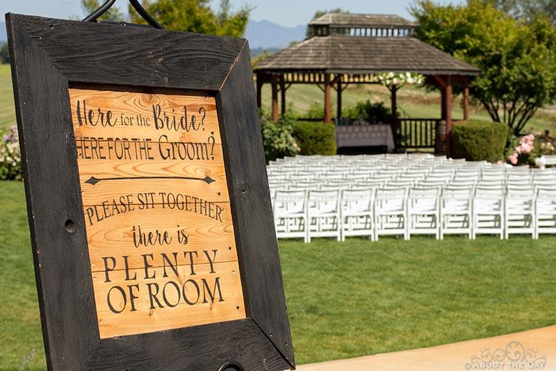 Into to Wedding ceremony at Hidden Meadows
