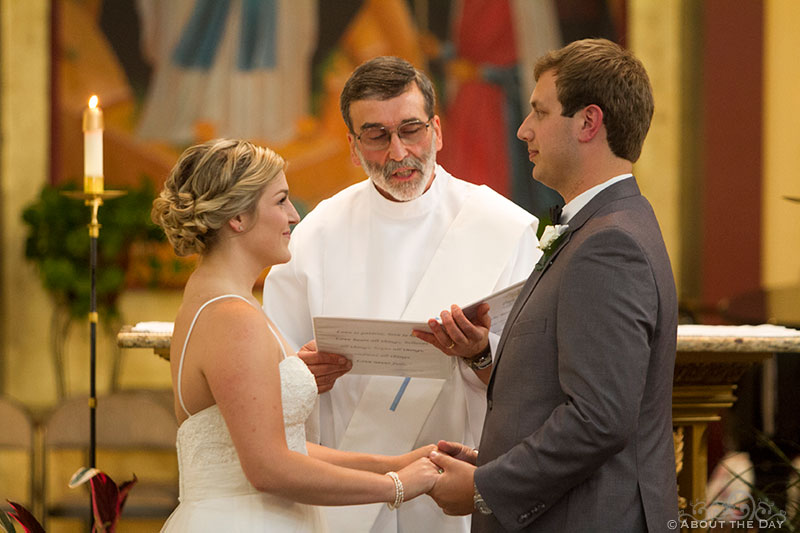 Wedding ceremony at Our Lady of Lords Church