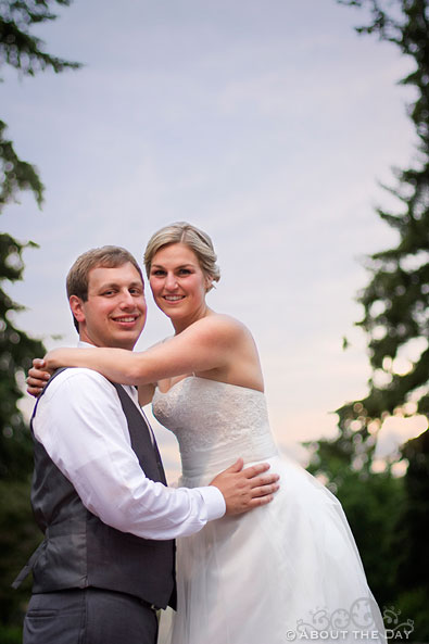 Bride and Groom at Esther Short Park