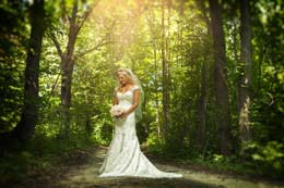 Angelic Bride in the forest near Milwaukee