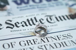 Wedding rings on the Seattle Times