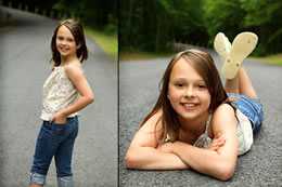Mackenzie poses for school photos in Indian Head, MD