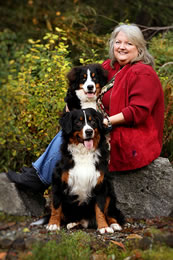 Phyllis and her two lovey dogs in Kamloops, BC