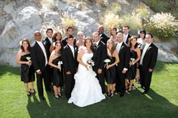 Great wedding party photo at ndian Wells Country Club