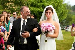 Bride becomes emotional walking in with her father