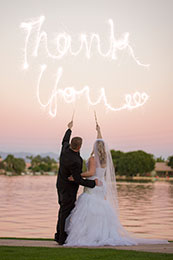 Harry Potter theme wedding with Thank you in the sky