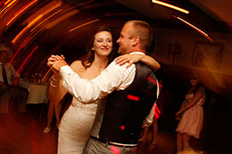 Wedding couple dance in a blur