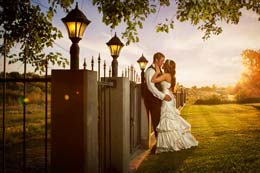 Sunset kiss at Moore Mansion in Pasco