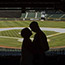 Engagement shoot in Seattle, Washington at Safeco Field