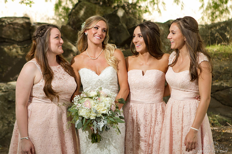 Bride and her sisters at Shadow Lake Ranch
