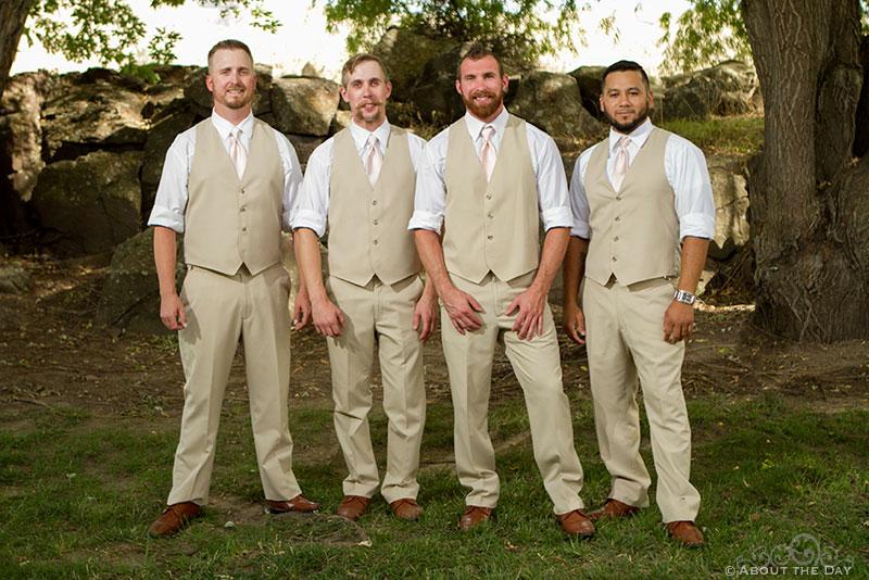 Groom and his groomsmen at Shadow Lake Ranch