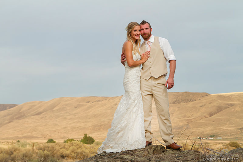 Bride and Groom loom large over central Washington mountains