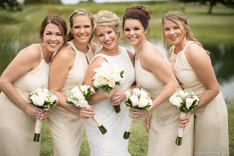 Heather and her lovely bridesmaids