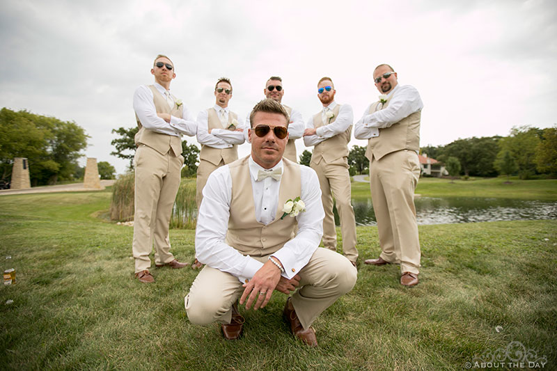 Brent and his cool groomsmen