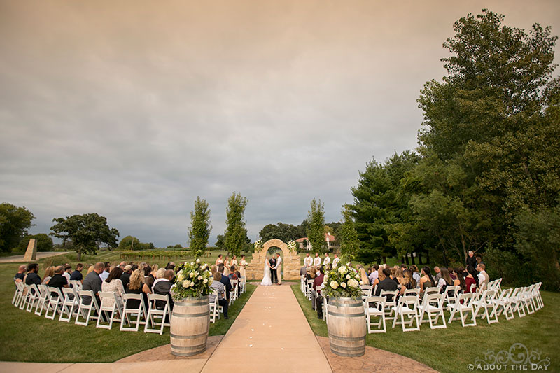 A beatuful Wedding Ceremony at DC Estate Winery in South Beloit, ILL