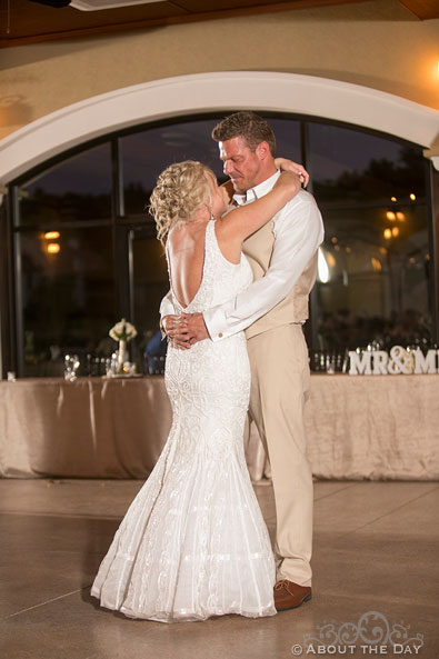 Brent and Heathers first dance at DC Estate Winery