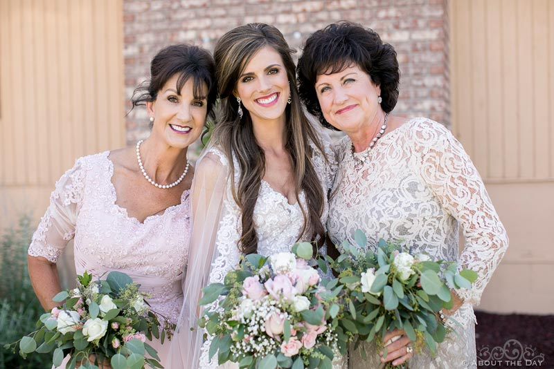Gorgeous Bride and her mothers