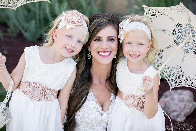 Gorgeous Bride and her flower girls