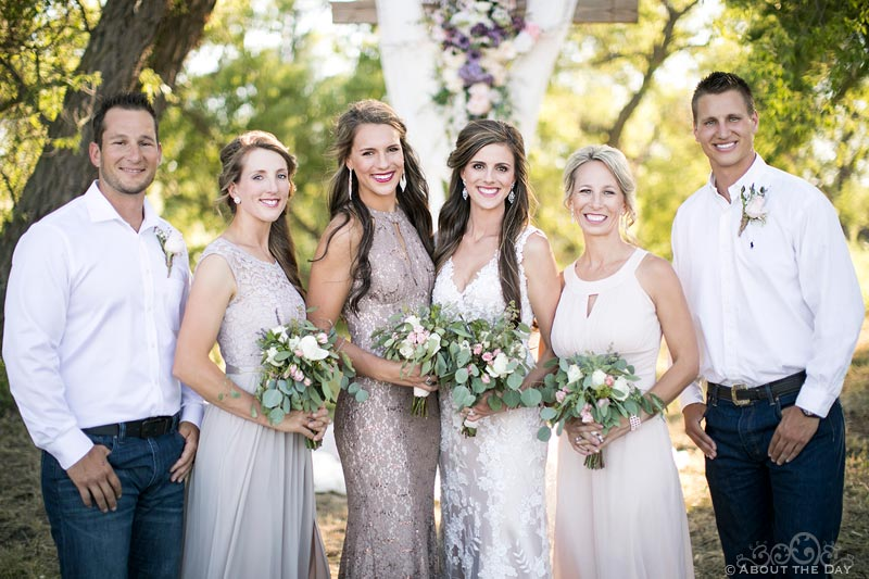 Bride with her siblings