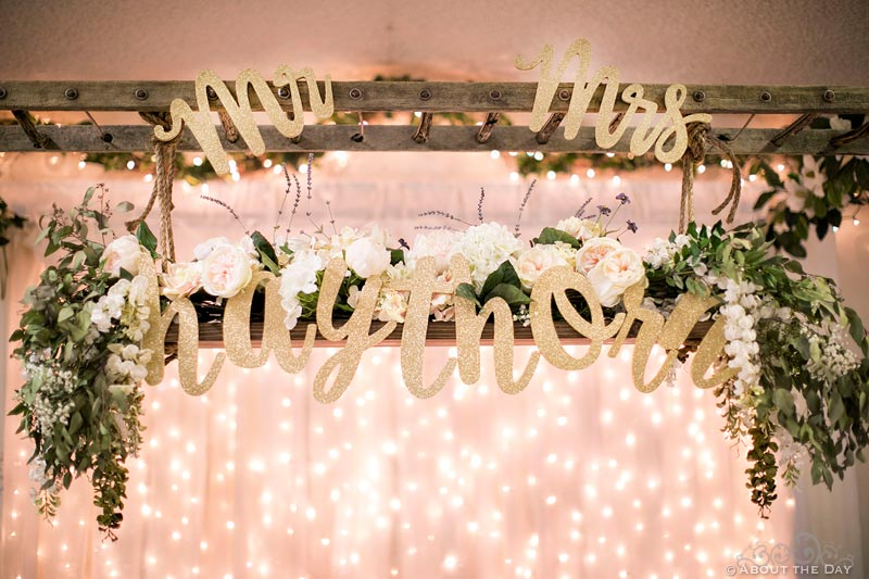 Wedding decor at Haythorn Land & Cattle Co