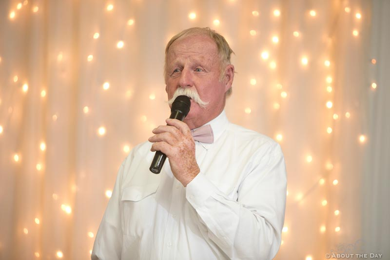 Brides father gives a speech at Haythorn Land & Cattle Co