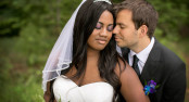 Wedding couple closeup in Wisconsin