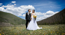 Bride and Groom in Platoro, Colorado
